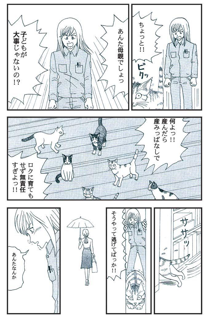 猫漫画:猫育 6話 内容 仔猫の親猫へやつあたり
